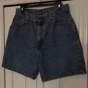 Women's Levi's shorts.